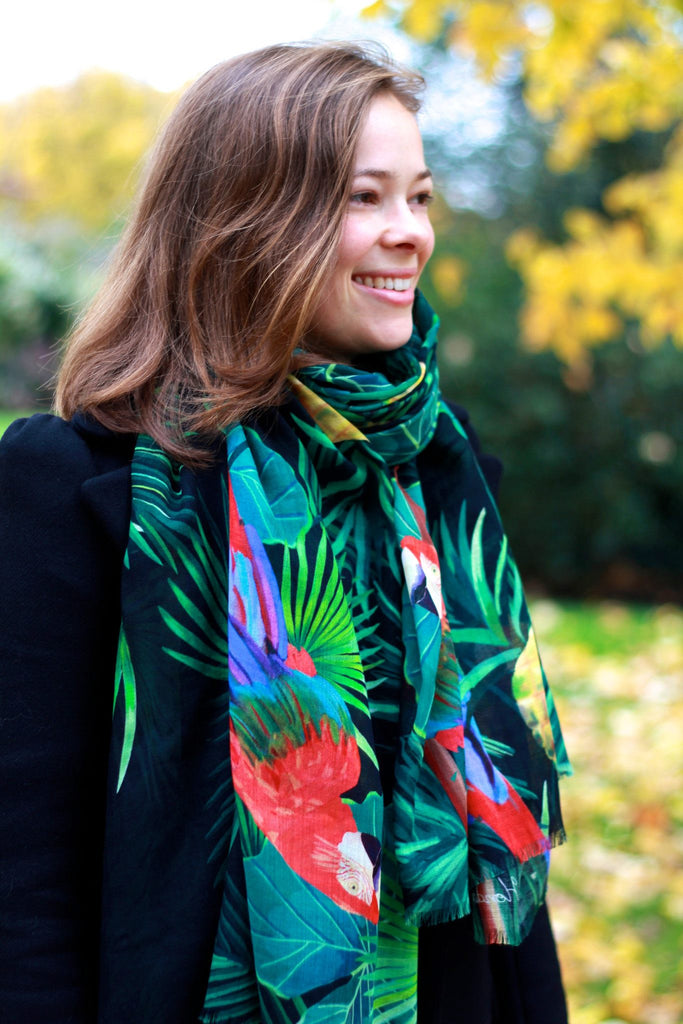 Palmapple Scarf, (model- smiling head shot) Yoko Honda - CultureLabel - 1