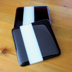 Set of Four Deco Fused Glass Coasters Design 2, RD Glass Alternate View
