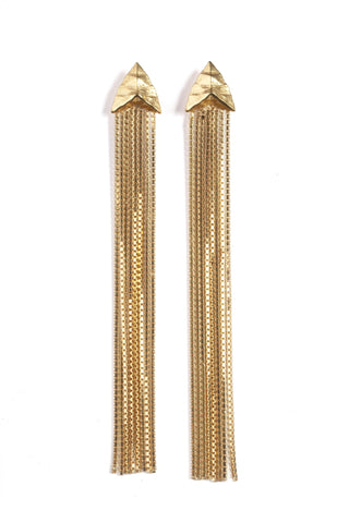 Modern Primitive Drape Chain Earrings, Rachel Entwistle - CultureLabel - 1