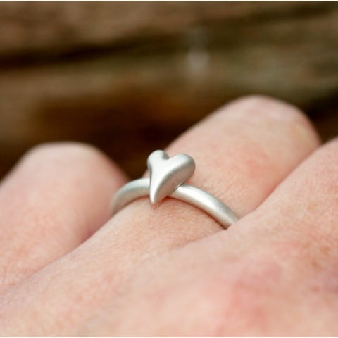 Handmade Wild at Heart Sterling Silver Heart Ring, Pretty Wild Jewellery - CultureLabel - 1