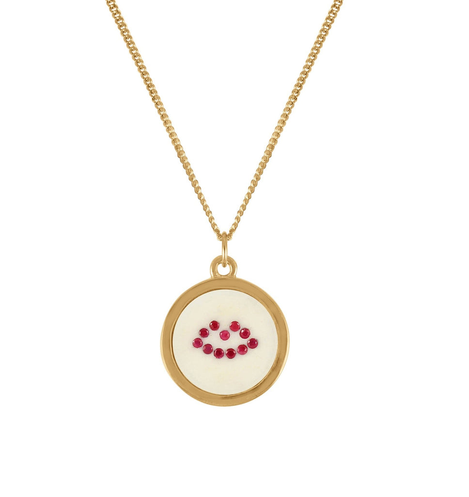 Ruby Lip Pendant Necklace, Lee Renée - CultureLabel - 1