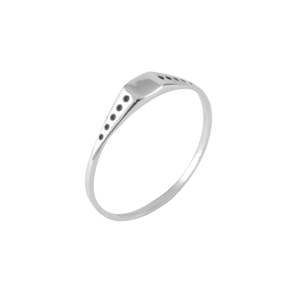 Square Shield Mini Signet Ring, Lee Renée - CultureLabel - 1