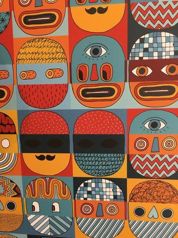 Faces Print, David Shillinglaw
