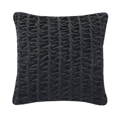 Hand Stitched Swirl Cushion Charcoal, Nitin Goyal