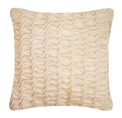 Hand Stitched Swirl Cushion Ivory, Nitin Goyal