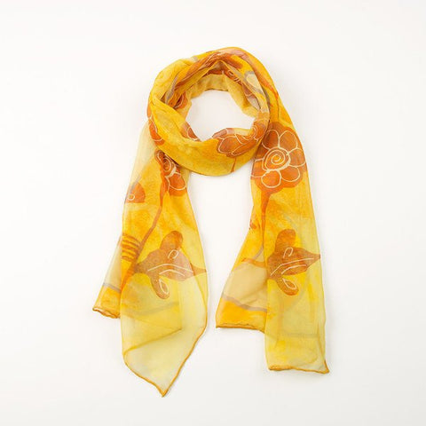 Yellow Songbird Silk Scarf, National Museum of Scotland - CultureLabel