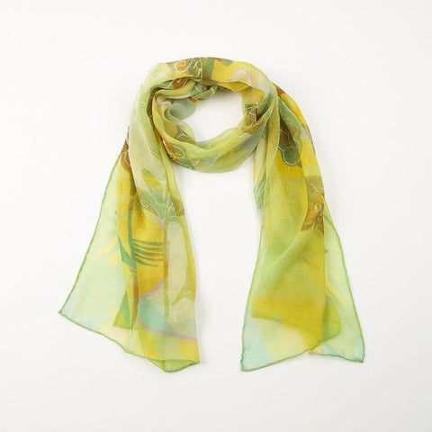 Green Songbird Silk Scarf, National Museum of Scotland - CultureLabel