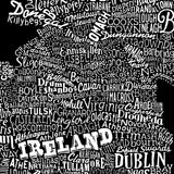 Ireland Type Map, Run For The Hills - CultureLabel