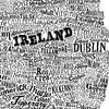 Ireland Type Map, Run For The Hills - CultureLabel - 5 (white; close up 'Ireland')