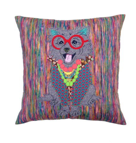 Iris Apfel Pomeranian Cushion, Mia Loves Jay - CultureLabel
