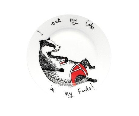 'Eat my Cake in my Pants Side Plate, Jimbobart
