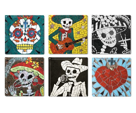 Set of Six Coaster Tiles, Juan is Dead - CultureLabel - 1