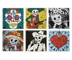 Set of Six Coaster Tiles, Juan is Dead