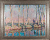 Jean-Pierre Hoschede and Michel Monet on the Banks of the Epte by Claude Monet 3d Reproduction, Versus Art - CultureLabel - 1