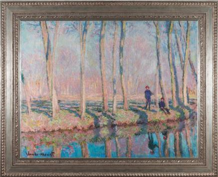 Jean-Pierre Hoschede and Michel Monet on the Banks of the Epte by Claude Monet 3d Reproduction, Versus Art