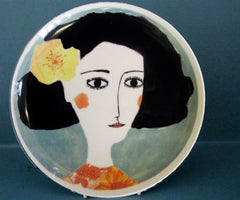 Yellow Flower Plate, Katy Leigh