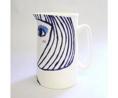 Turquoise Eye Shadow Jug, Katy Leigh