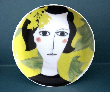 Tropical Yellow Flower Plate, Katy Leigh - CultureLabel - 1