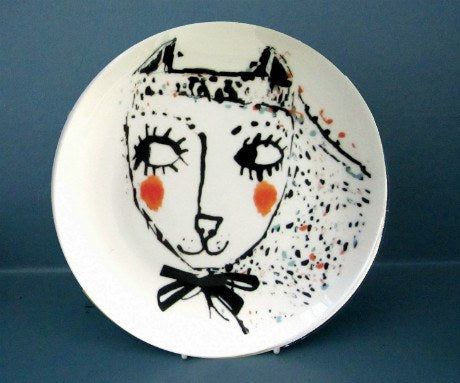 Girl Cat Plate, Katy Leigh - CultureLabel