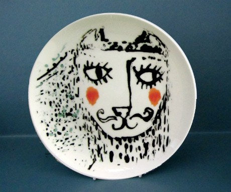 Boy Cat Plate, Katy Leigh - CultureLabel