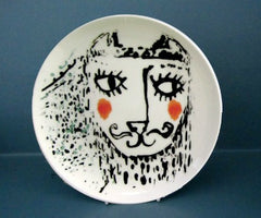 Boy and Girl Cat Plates, Katy Leigh
