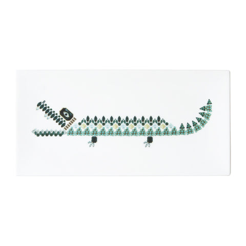Crocodile Fine Bone China Rectangular Plate (Large), Kim Sera - CultureLabel - 1