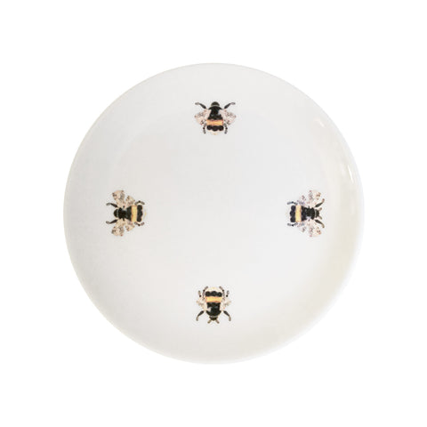 Bumble Bees Fine Bone China Dessert Plate (Extra Small), Kim Sera