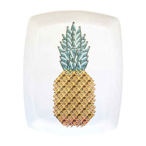 Pineapple Fine Bone China Large Platter, Kim Sera - CultureLabel - 1