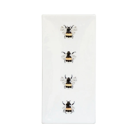 Bumble Bees Fine Bone China Rectangular Plate (Small), Kim Sera - CultureLabel - 1