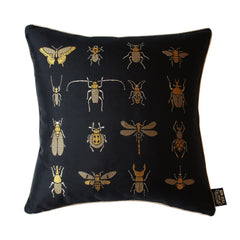 Insect Silk Jaquard Cushion, Kim Sera