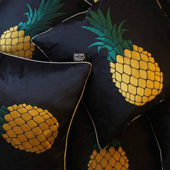 Pineapple Silk Jacquard Cushion, Kim Sera Alternate View