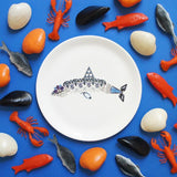 Shark Fine Bone China Plate (Large), Kim Sera - CultureLabel - 2