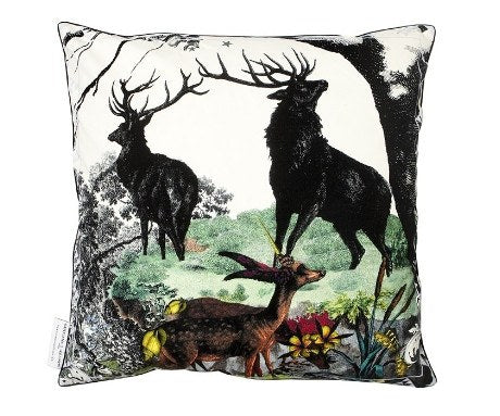 Twin Stags Cotton Cushion Cover, Kristjana S Williams