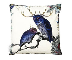 Twin Owls Cotton Cushion Cover, Kristjana S Williams