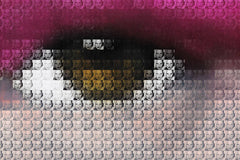 Kate Moss Eyes - Magenta, Nick Holdsworth Alternate View
