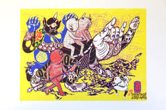 The Mystic Adventure (screen print), Hideyuki Katsumata