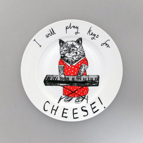 Keys For Cheese Side Plate, Jimbobart - CultureLabel - 1