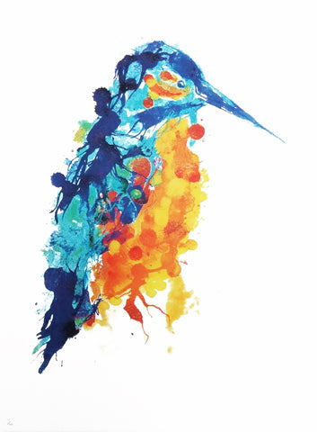 Kingfisher Limited Edition Screen Print, Gavin Dobson