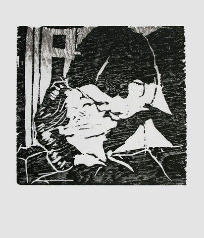 Kiss (Woodblock Print), Dan McDermott