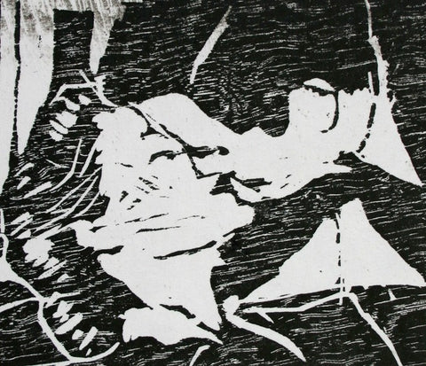 Kiss (Woodblock Print), Dan McDermott Alternate View