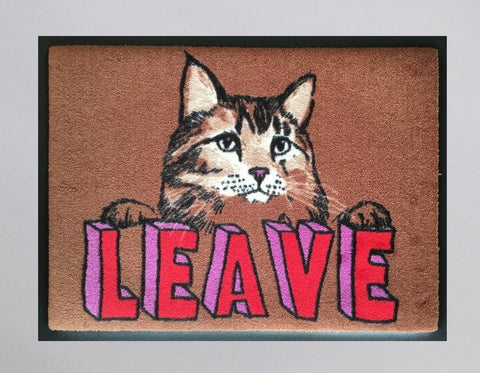 Leave Cat Welcome Doormat, Jimbobart - CultureLabel - 1