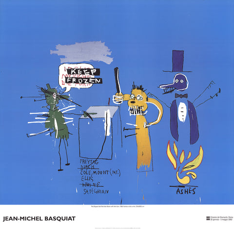 The Dingoes that Park Their Brain with Their Gum, Jean-Michel Basquiat