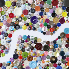 Handmade Button Map of London, Hello Geronimo Alternate View
