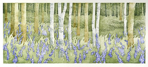 Bluebell Wood. Wet Spring, Laura Boswell - CultureLabel