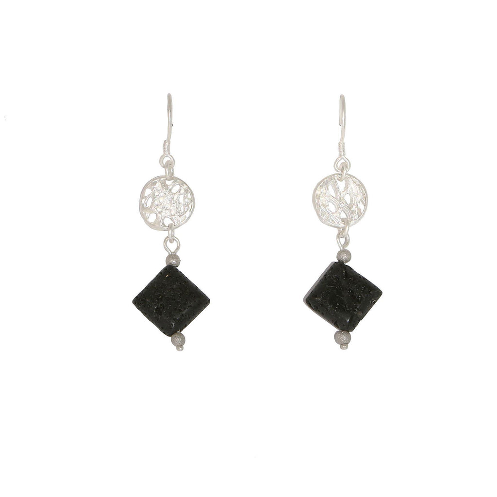 Sicilian Lava Drop Earrings, Roberto Intorre - CultureLabel - 1