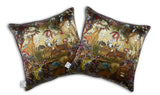 Lion by Numbers Cushion silk, Kristjana S Williams