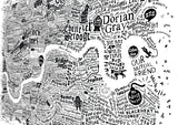 Literary London Map, Run For The Hills - CultureLabel - 5 (white; angled image)