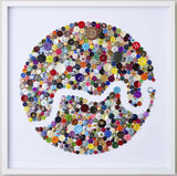 Handmade Button Map of London, Hello Geronimo - CultureLabel