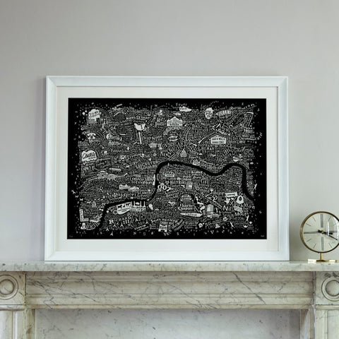 Film London Map Art Print (2017 Edition), Run For The Hills