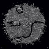 Typographic Street Map of Central London, Run For The Hills